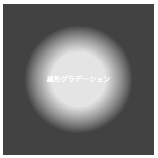 カラーの開始位置を変更した円形グラーデーション