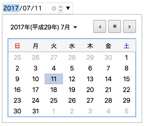 フォーム日付